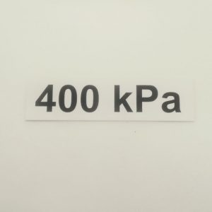 Nálepka - označenie tlaku v pneumatikách - 400 kPa