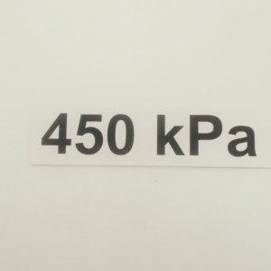 Nálepka - označenie tlaku v pneumatikách - 450 kPa