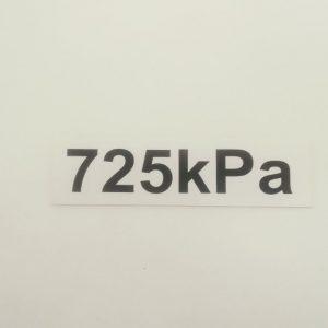 Nálepka - označenie tlaku v pneumatikách - 725 kPa