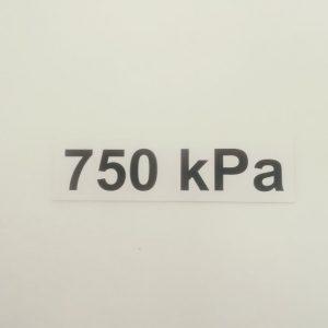 Nálepka - označenie tlaku v pneumatikách - 750 kPa