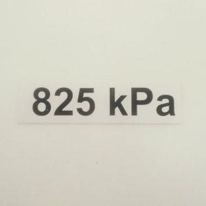 Nálepka - označenie tlaku v pneumatikách - 825 kPa