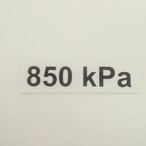 Nálepka - označenie tlaku v pneumatikách - 850 kPa