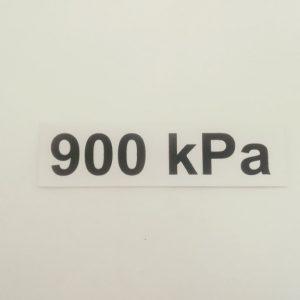 Nálepka - označenie tlaku v pneumatikách - 900 kPa