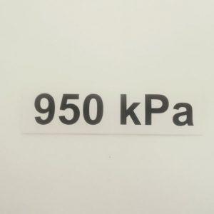 Nálepka – označenie tlaku v pneumatikách – 950 kPa